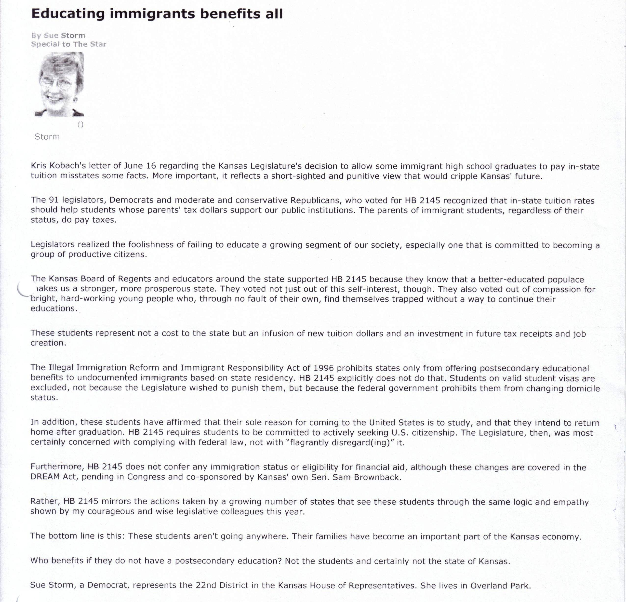 educating immigrants benefits all